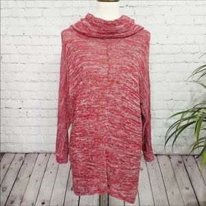 NEW DIRECTIONS Red cowl neck sweater